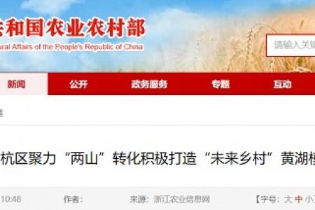 """余杭区聚集""""两山""""改造,积极打造""""未来村""""黄湖模式"""