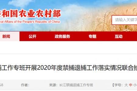 2020年,长江禁捕特别班对禁捕令的执行情况进行了联合抽查和核查
